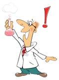 Cute cartoon chemist Stock Photo