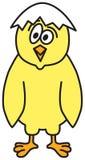 Cute Cartoon Chicken. Vector illustration of a cute chicken with funny hat Vector Illustration