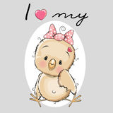 Cute Cartoon Chicken Stock Photography