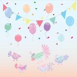 Cute cartoon chickens, vector illustration Stock Photography