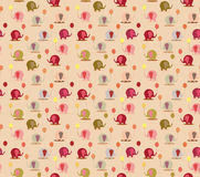 Cute cartoon childish seamless pattern with elephant in . Royalty Free Stock Photos
