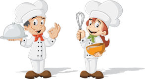 Cute cartoon children chefs Royalty Free Stock Photos