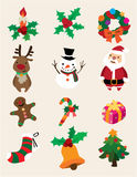 Cute cartoon Christmas element Stock Images
