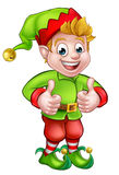 Cute Cartoon Christmas Elf Royalty Free Stock Image