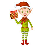 Cute cartoon of a Christmas elf Royalty Free Stock Images