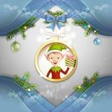 Cute cartoon of a Christmas elf Royalty Free Stock Photo