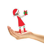 A cute cartoon of Christmas girl. Royalty Free Stock Image