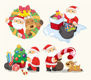 Cute cartoon Christmas Holiday Stock Photography