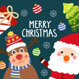Merry christmas vecter royalty free stock photography