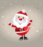 Cute cartoon christmas Santa claus Stock Image
