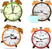 Cute cartoon clocks Royalty Free Stock Image