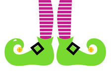 Cute cartoon colorful Elf legs Royalty Free Stock Photography