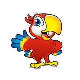 Cute cartoon colorful macaw Royalty Free Stock Photo