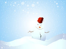 Cute Cartoon Comic Snowman Stock Images
