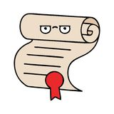 Cute cartoon contract. A creative illustrated cute cartoon contract royalty free illustration
