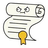 Cute cartoon contract. A creative illustrated cute cartoon contract vector illustration