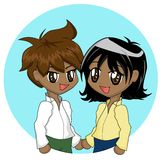Cute Cartoon Couple Royalty Free Stock Images