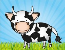 Cute cartoon cow Royalty Free Stock Photography