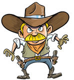 Cute cartoon cowboy with a gun belt. Stock Photography