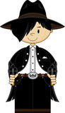 Cute Cartoon Cowboy Outlaw Royalty Free Stock Images