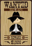 Cute Cartoon Cowboy Poster Stock Image
