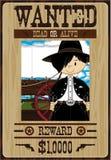 Cute Cartoon Cowboy Poster Stock Images