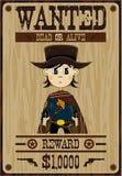 Cute Cartoon Cowboy Poster Royalty Free Stock Photo