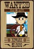 Cute Cartoon Cowboy Poster Royalty Free Stock Photography