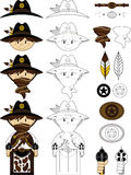 Cute Cartoon Cowboy Sheriff Royalty Free Stock Images