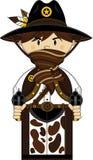 Cute Cartoon Cowboy Sheriff Stock Photo