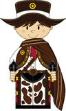 Cute Cartoon Cowboy Sheriff Stock Photos