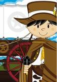 Cute Cartoon Cowboy Royalty Free Stock Images