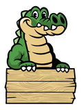 Cute cartoon crocodile stock illustration