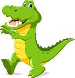 Cute cartoon crocodile. Vector illustration of cute cartoon crocodile isolated on white background Stock Photography