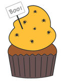 Cute cartoon cupcake with spider illustration Stock Images