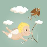 Cute cartoon cupid Stock Photography