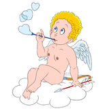 Cute cartoon cupid Royalty Free Stock Photo