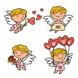 Cute cartoon cupids Stock Photos