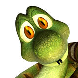 Cute cartoon 3d snake Royalty Free Stock Photo
