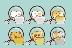 Cute cartoon decayed tooth Royalty Free Stock Photos