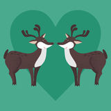 Cute cartoon decorative deer in love Stock Photography