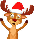 Cute cartoon deer waving Stock Photography