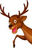 Cute cartoon deer waving Royalty Free Stock Photos