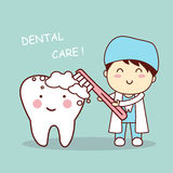 Cute cartoon dentist brush tooth Stock Images