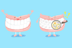 Cute cartoon denture Royalty Free Stock Images