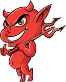 Cute cartoon devil Stock Images
