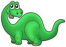Cute cartoon dinosaur Stock Photos