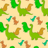 Cute cartoon dinosaur background pattern Royalty Free Stock Photo
