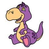 Cute cartoon dinosaur. Royalty Free Stock Photos