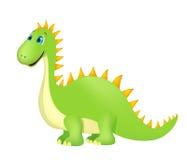 Cute cartoon dinosaur on white Stock Photo
